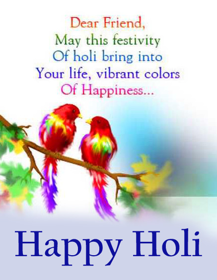 Happy Holi Wish Quotes for Friend