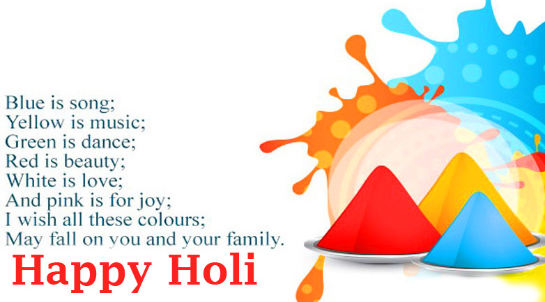 Happy Holi with Colors Song Message