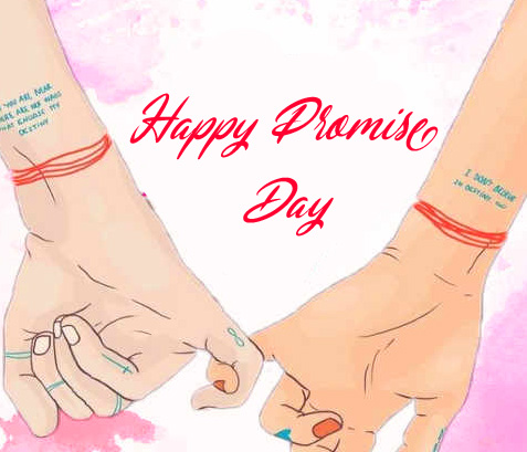 Happy Promise Day Animated Lover Hands Pic
