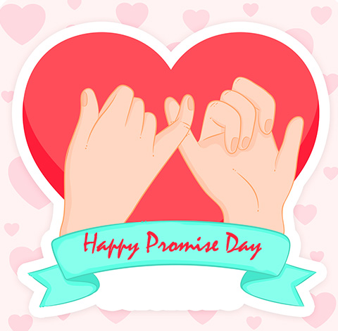 Happy Promise Day Animated Message Wallpaper