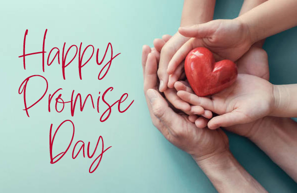 Happy Promise Day with Family Heart