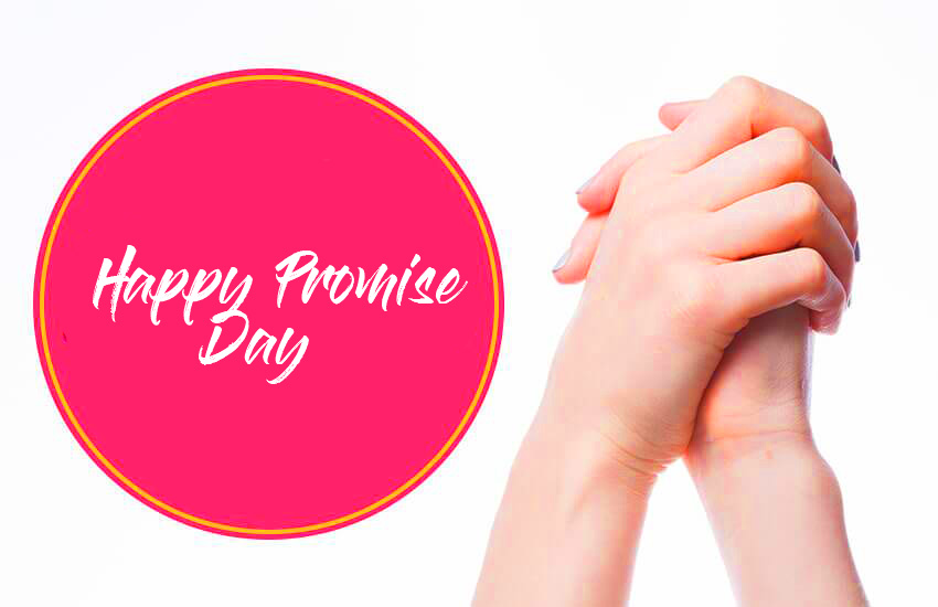 Happy Promise Day with Lover Hands Pic