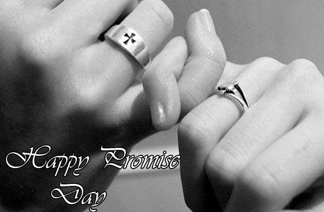 Happy Promise Day with Lovers Hands Pic
