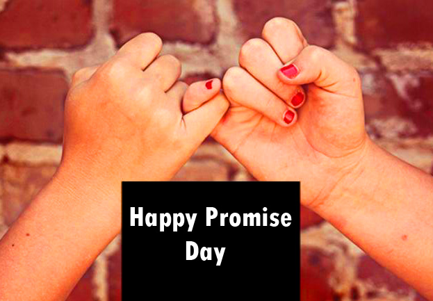 Happy Promise Day with Trust Hands