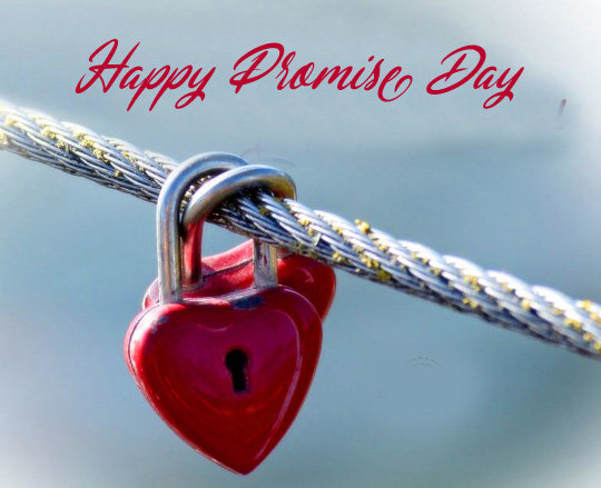 Heart Locks with Happy Promise Day Message