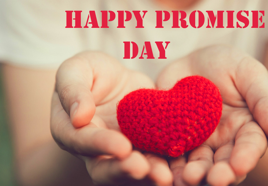 Heart on Hearts with Happy Promise Day Wish