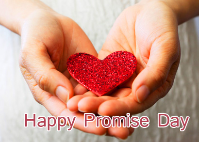 Heart with Happy Promise Day Message