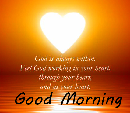 Heart withGods Quotes and Good Morning Wish