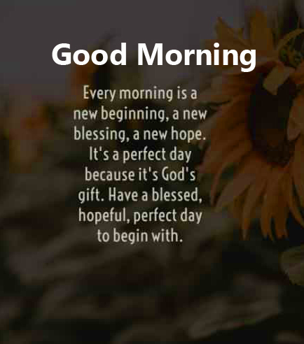 Inspirational Blessing Good Morning Picture