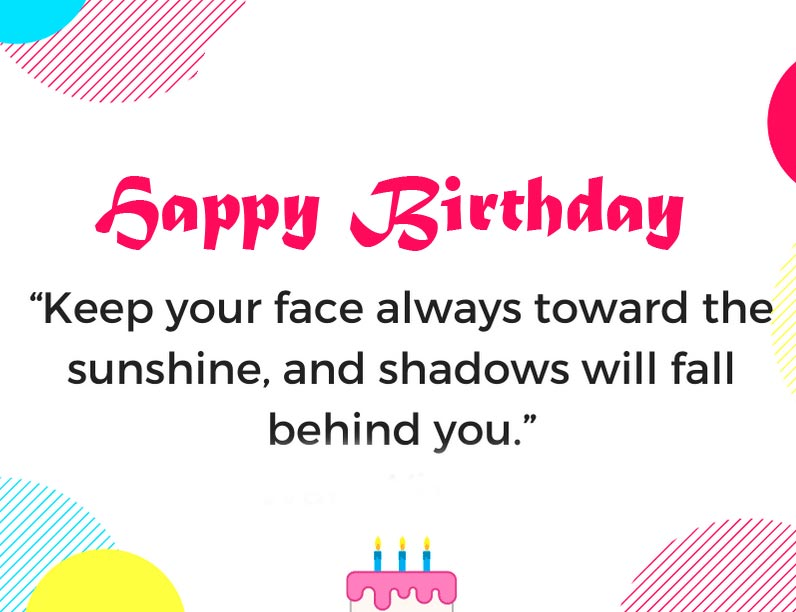 Inspirational Happy Birthday Message Picture