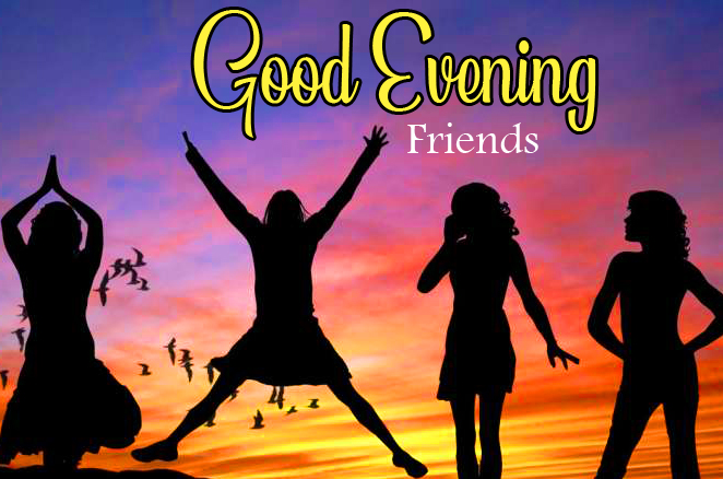 Joyful Good Evening Friends Image