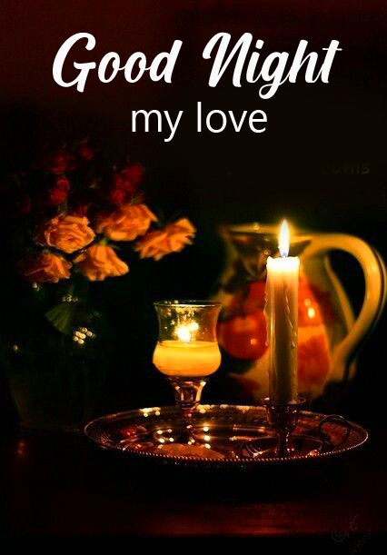 Latest Candles Good Night Wallpaper