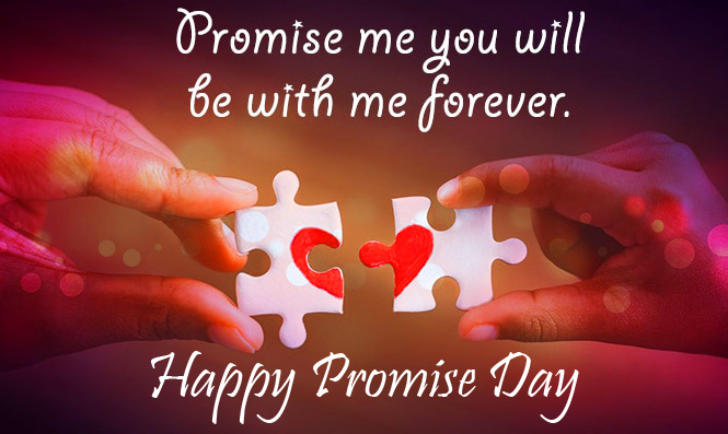 Latest Heart Puzzle with Happy Promise Day Wish