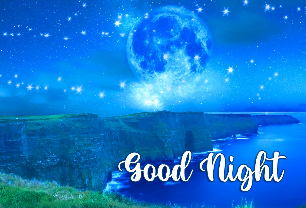 Latest Moon and Satrs Good Night Picture HD