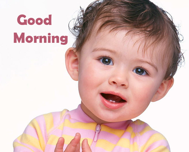 Latest and Cute Baby Boy Good Morning Wallpaper