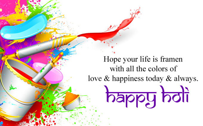 Life Colors Quotes with Happy Holi Wish
