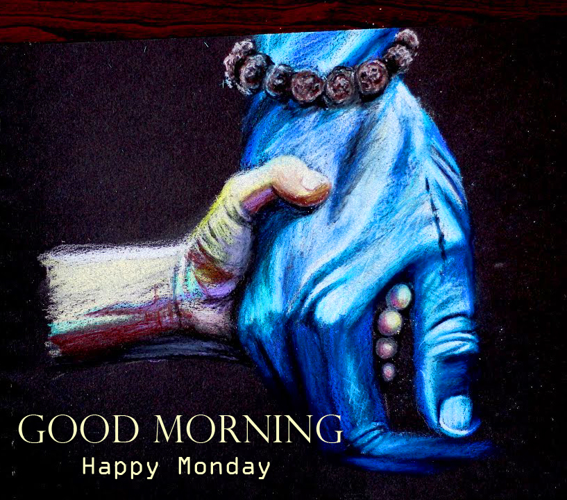 Lord Shiva Kind Hands with Good Morning Happy Monday Wish