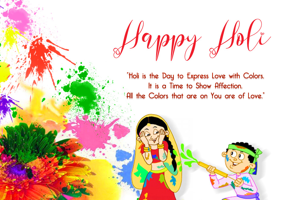 Love Quotes Colourful Happy Holi Pic