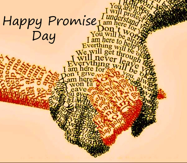Love Written Hands with Happy Promise Day Wish
