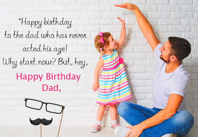Lovely Happy Birthday Dad Message Image