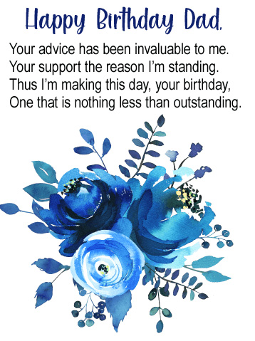Lovely Message with Happy Birthday Dad Wish