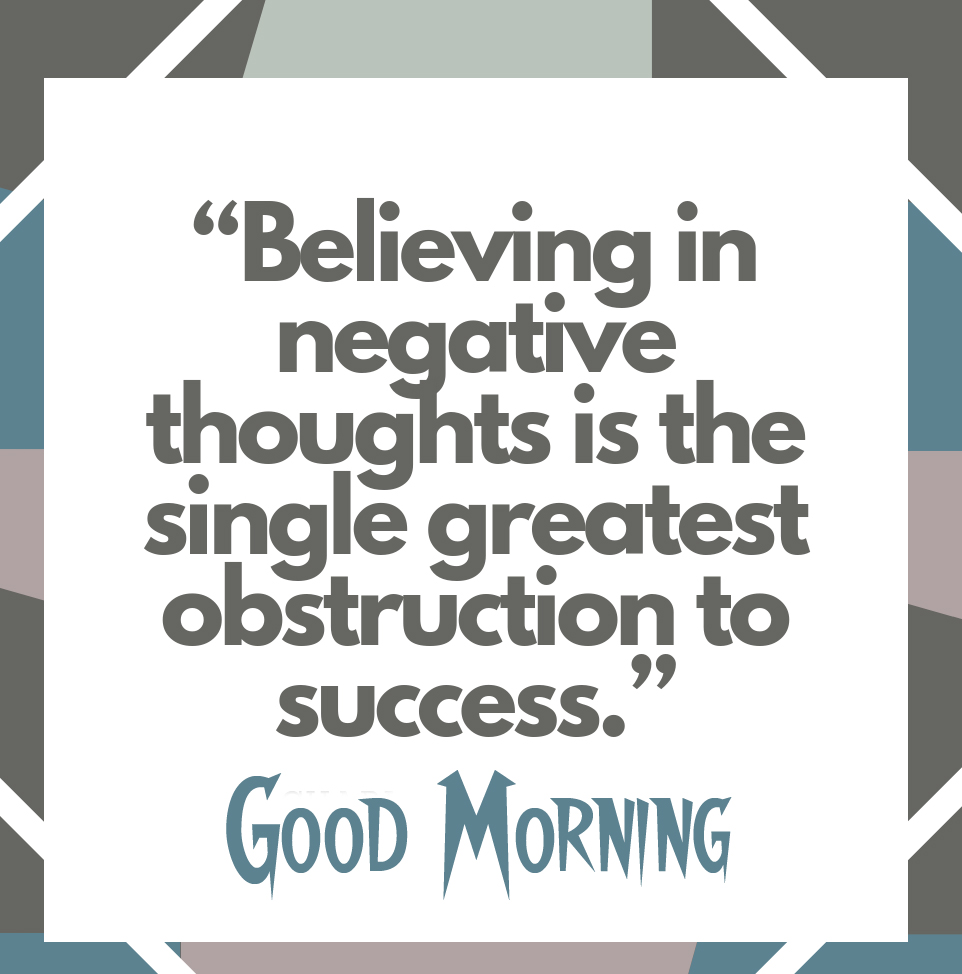 Lovely Positive Quote with Good Morning Wish