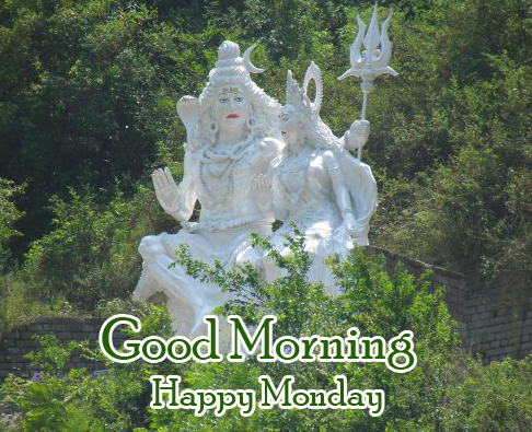 Lovely Shiv Statue Good Morning Happy Monday Picture