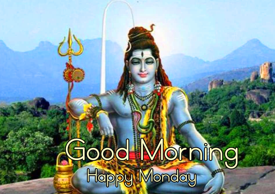 Mahadev or Shiv Good Morning Happy Monday Picture