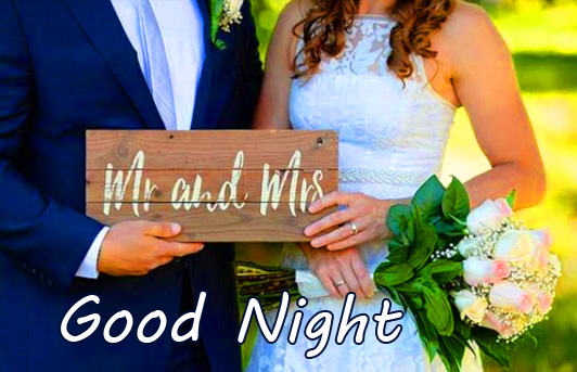 Mr and Mrs Husband and Wife Good Night Photo
