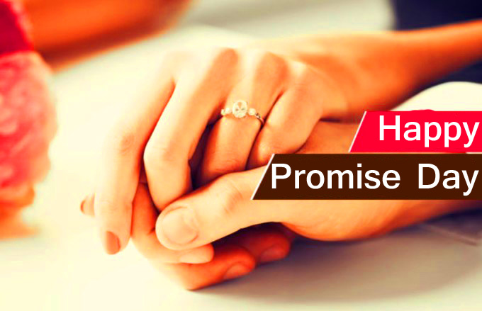 Promise Lover Hands with Happy Promise Day Wish