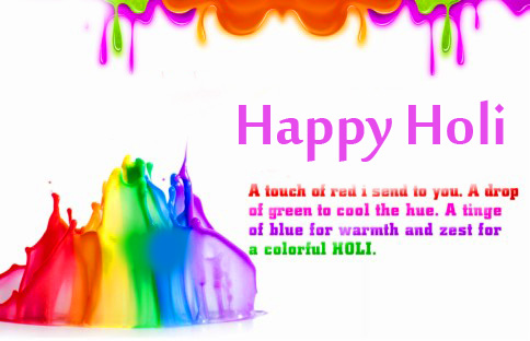 Quotes Happy Holi Colorful Wallpaper