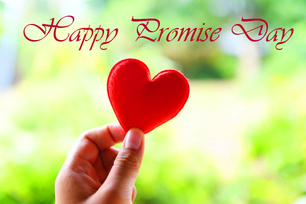 Red Heart Happy Promise Day Wallpaper
