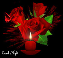 Red Roses Good Night Image and Pic