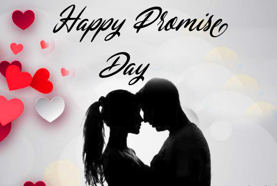 Romantic Animated Couple Happy Promise Day Pic