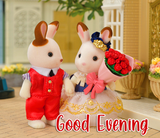 Romantic and Cute Couple Good Evening Image