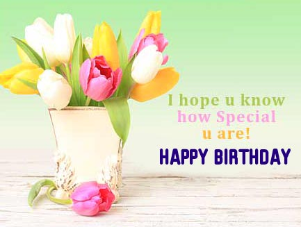 Special Happy Birthday Message Picture