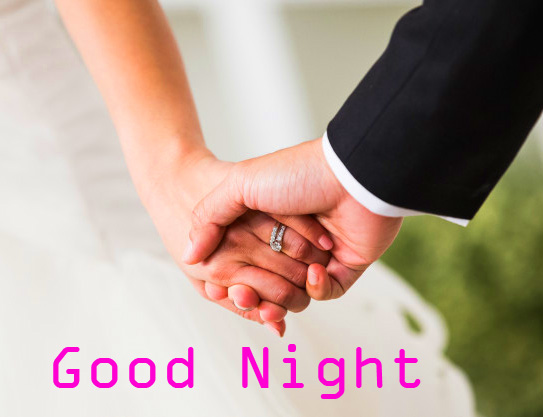 Young Husband Wife Good Night Picture