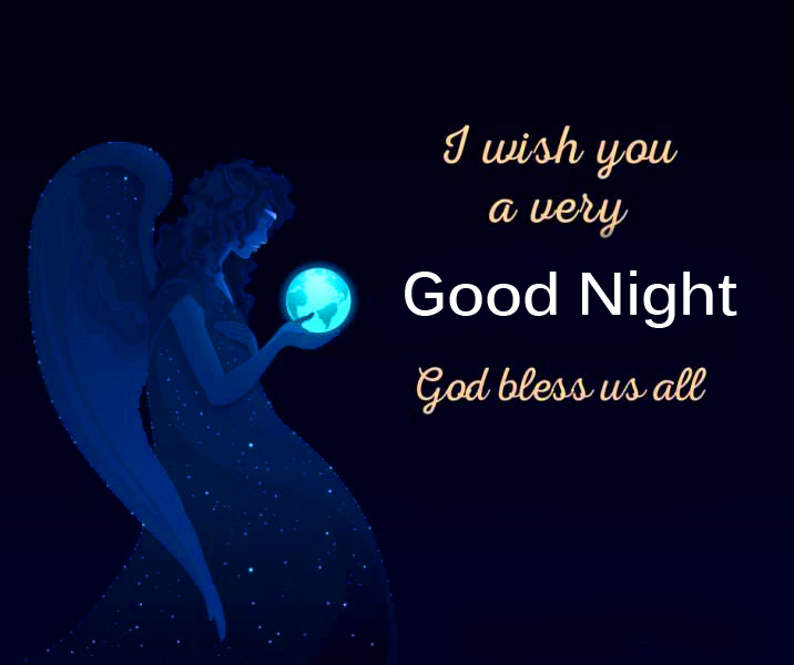 Angel Blessing Good Night Quote Picture
