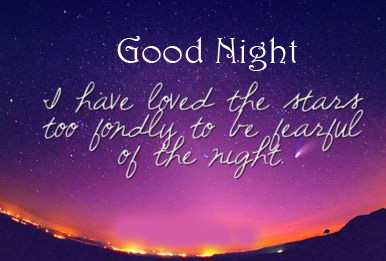 Beautiful and Lovely Quote Good Night Image