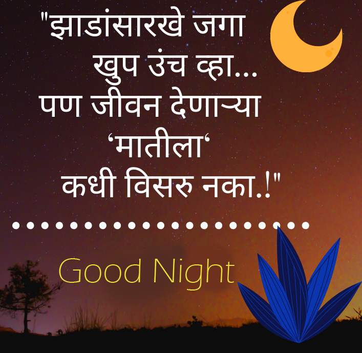 Best and Lovely Marathi Quote Good Night Image
