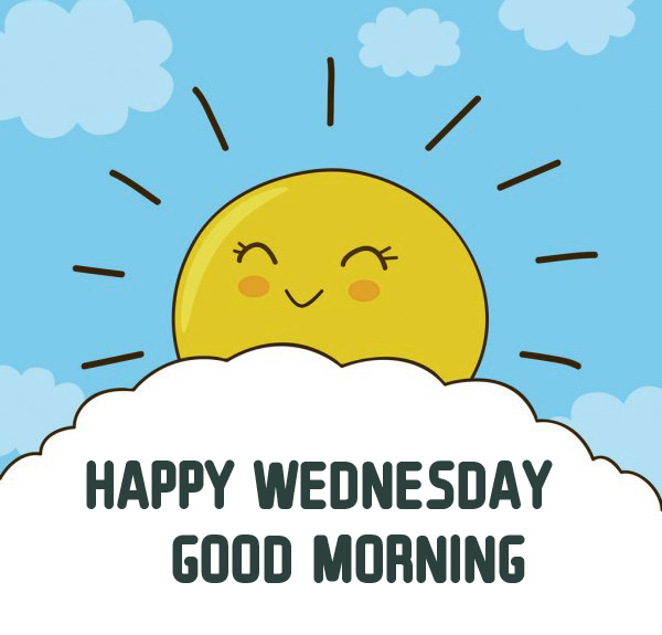Cute Sun Cartoon Happy Wednesday Good Morning Picture