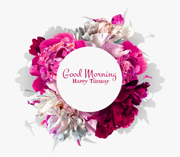 Floral Good Morning Happy Tuesday Wallpaper