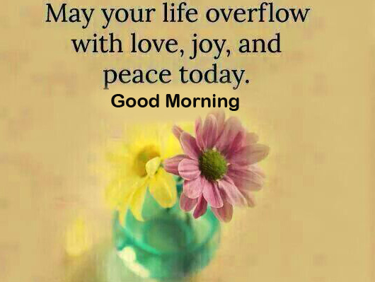 Floral Life Quote Good Morning Image
