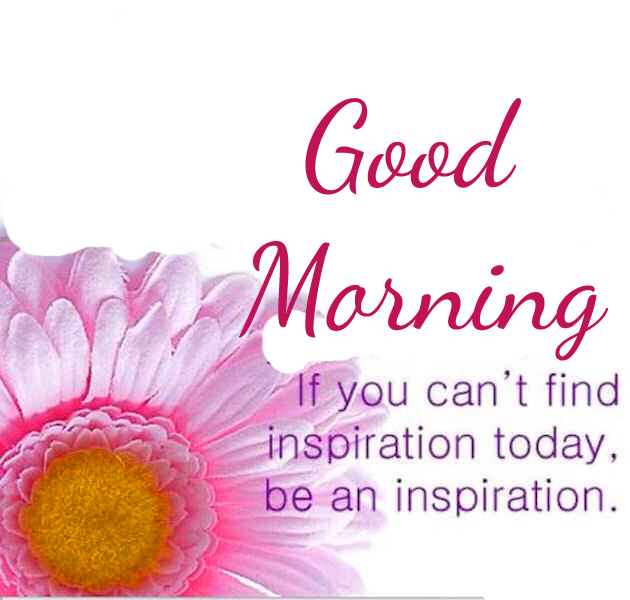 Flower with Good Morning and Beautiful Quote
