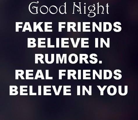 Friends Lovely Quote Good Night Image