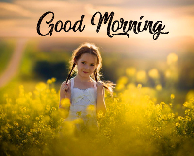 Girl Sunrise Good Morning Image