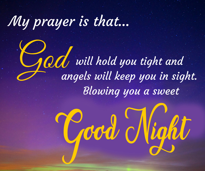 God Good Night Blessing Quote Wallpaper