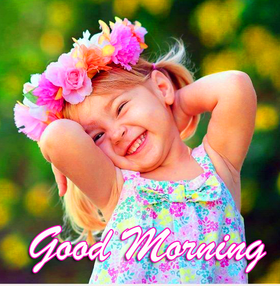 Good Morning Adorable Child Picture