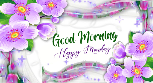 Good Morning Happy Monday Floral Wallpaper