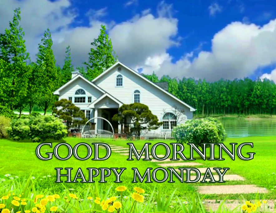 Good Morning Happy Monday Scenery Wallpaper